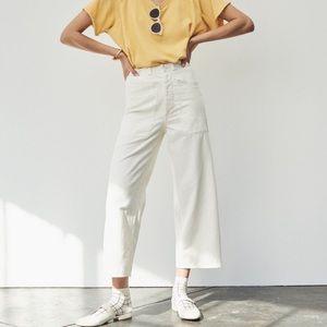 Madewell x As Ever Brancusi White Wide Leg Pants